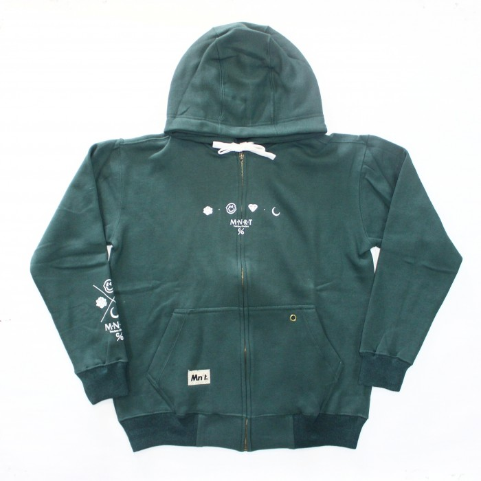 distro bandung Zipper hoodie slub